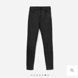Everlane High Rise Button Fly Skinny Jeans